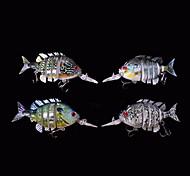 """4 pcs Señuelos duros / Cebos Señuelos duros Colores Aleatorios 56 g/<1/18 / 1/2 Onza,70 mm/2-3/4"""" pulgada,Plástico duro Pesca de Mar"""