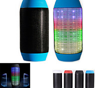 HTH-36 Colorful Red Tube Pattern Rechargeable TF Card Bluetooth Stereophonic Radio Speaker