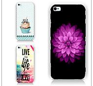 motif de fleurs cas PC Phone couverture arrière cas pour iphone5c