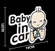 gracioso bebé en etiqueta engomada del coche del coche ventana del coche estilo pared coche calcomanía