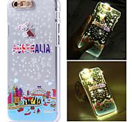 Austrália padrão cidade luz do flash sentido lcd caso capa Voltar para o iPhone 6 / 6s