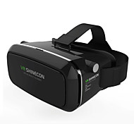 VR BOX Shinecon Virtual Reality 3D Glasses Cardboard 2.0 VR Headset - Black