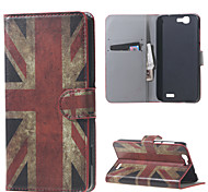 Vintage UK Flag Magnetic Leather Wallet Handbag Book Cover Case For Flip Huawei ascend G7