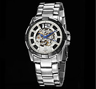 Men's Fashion Full Automatic Round Dial Stainless Steel Band Machine Analog Wrist Watch(Assorted Color) Cool Watch Unique Watch