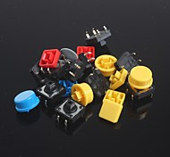 10pcs Key Tact Switches Set + Key cap for Arduino