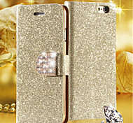 Luxury Shiny Diamond PU Leather Case With Safe Buckle Cell Phone Bling Case For iPhone 4/4S