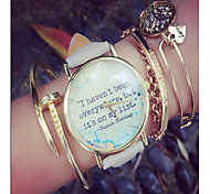 Travel Watch - World Map Watch - Travel Gift - Quotes Watch - Vintage Leather Watch - Book Watch Unisex Watch