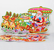 Christmas Stickers Milu Deer Pull the Carriage Supplies Party Decorative Crafts