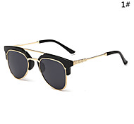 Sunglasses Women's Modern / Fashion Browline Silver / Gold Sunglasses Half-Rim
