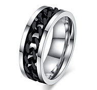 Z&X® Fashion Chain Titanium Steel Ring Band Rings Party / Daily / Casual 1pc