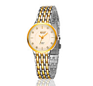 Ladies's Watches Gold Casual Slim Fashion Waterproof Watch