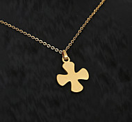 European  fashion personality titanium steel gold necklace 5- crosswise pattern  Party / Daily / Casual 1pc
