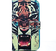 Tiger Pattern Card Stand Leather Case with Card Slot for iPhone 6 Plus / 6S Plus