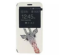 motif de girafe en cuir PU couverture complète du corps avec support pour Samsung Galaxy J5 / Galaxy Xcover 3 g388f