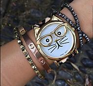 Mujer Reloj de Moda Cuarzo Cronógrafo PU Banda Negro Blanco Marrón Múltiples Colores Blanco Negro Marrón Leopardo