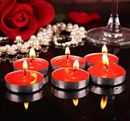 Figure Circular Paraffin Wax Candle Smoke-Free Scented Candles (10PCS)