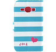 Stripe Pattern PU Material Flip Phone Case for Samsung GALAXY G360/J1/G5308/9082