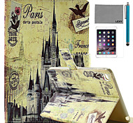 LEXY® Retro Castle Pattern PU Leather Flip Stand Case with Screen Protector and Stylus for iPad Mini 4
