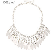 D exceed Lady New Statement Necklaces Bohemian Style Short Silver Color Necklace Choker Collar Fashion Jewerly