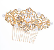Bridal Hairpins Rhinestone Pearl Gold Plated Hair Combs Wedding Hair Jewelry Accessories