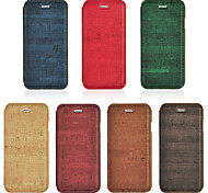 Wood Grain PU Leather Stand Case For iPhone 6 4.7'' Flip Phone Bag Cover With Card Holder For iphone6S(Assorted Color)