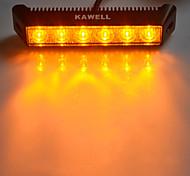 """kawell® 18w 7.5 """"1200lm 3000k 60 graus âmbar levou inundação feixe de luz bar"""