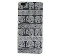 patrón de elefante TPU softphone para Huawei p8 Lite