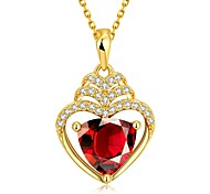 Xu™ Women's Heart-shape Diamonds 18k Gold-plated Necklace
