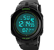 Skmei® Men's Round Dial PU Band Outdoor Sports Digital Watch 50m Waterproof Assorted Colors