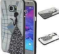 2-in-1 Schmetterling Socken Muster TPU rückseitige Abdeckung mit pc Autostoßfest Hülle für Samsung Galaxy Note 5
