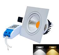 Luces Empotradas Descendentes Regulable jiawen 7 W 1 LED Integrado 0~600LM LM Blanco Cálido / Blanco Fresco AC 85-265 / AC 24 V 1 pieza