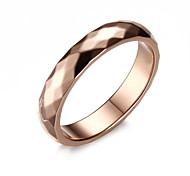 Z&X® Fashion Rhombus Titanium Wedding Steel Ring Band Rings Party / Daily / Casual 1pc