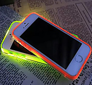 New Visor Call LED Blink Transparent TPU Back Cover Case For iPhone 6Plus/6S Plus(Assorted Colors)