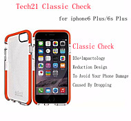 Tech 21 Case D3O TPU Case Anti-shock Back Shell Classic Check Case Impact Mesh Plaid Case iPhone 6/6S Plus 5.5""