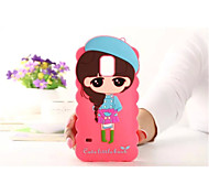 Cartoon Shell Silicone Sets Mobile Phone Protection Shell For Galaxy S6/S5(Assorted Color)