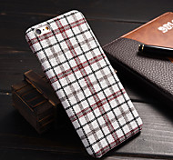 England Plaid Material Quality Feel Phone  Case  for iPhone 6 Plus /6S Plus (Assorted Colors)