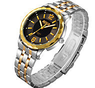 Men's Watch Gold Stainless Steel With Gold Quartz Custom Waterproof Watch