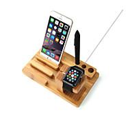 guardare mela e stand iphone bambù ricarica dock station supporto della staffa culla per la vigilanza iWatch mela