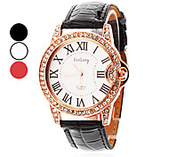 Women's Watch Diamante Roman Numerals Dial Cool Watches Unique Watches