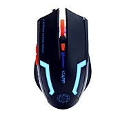 2.4GHz 2400DPI 3D USB 6 Button Optical Wired Mouse Mice Cordless Game Mouse Computer PC Laptop Desktop Without Batter