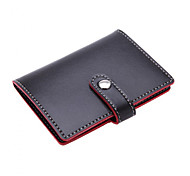 Soft Premium Leather Wallets Credit Card Holder ID Business Case Purse Unisex Classy Black