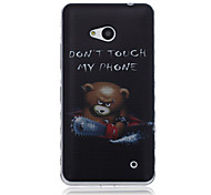 Chainsaw Bear Pattern Material TPU Phone Case for Nokia N640