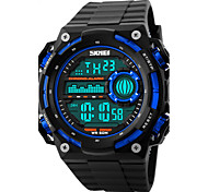 Masculino Relógio de Pulso Digital LED / Calendário / Cronógrafo / Impermeável / alarme / Relógio Esportivo PU Banda Preta marca- SKMEI