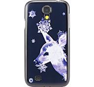 Navidad y el patrón de ciervos PC caso duro para el Samsung Galaxy S4