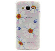 Sun flower Pattern TPU Relief Back Cover Case for Galaxy J1 Ace/ Galaxy J2/Galaxy J5