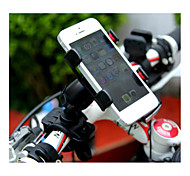 Universal Phone Holder  One Clip Mobile Hose Bracket Wideth Within 9cm  ABS+PVC Black