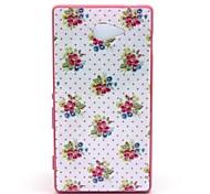 2-in-1 der kleine Blumenmuster pc zurück mit pc Autostoßfest Hartschalentasche für Sony Xperia m2 bedecken