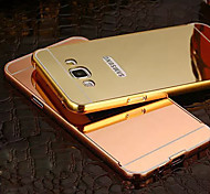New Plating Mirror Back with Metal Frame Phone Case for Galaxy A5/A7/A8(Assorted Colors)