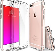Crystal Clear PC Drop Protection TPU Hard Bumper Case for iPhone 6s 6 Plus