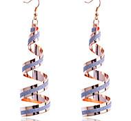 European Style Fashion Twisted Glitter Dangle Earrings